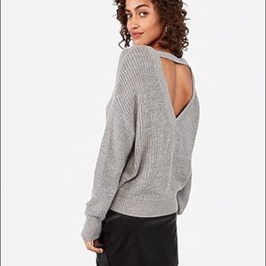 NWOT Express Cut our Back Sweater small
